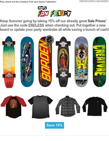 Endless Summer Sale Starts Now!