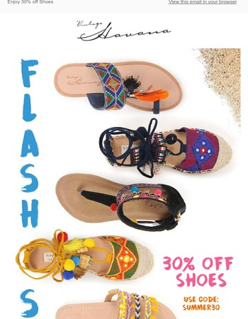 Reminder: Final hours for 30% off all shoes!