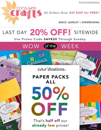 THIS is a game changer...50% off Core'dinations Paper Packs