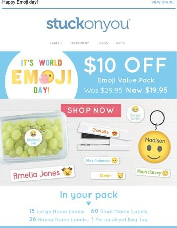$10 off Emoji Value Pack for World Emoji Day!