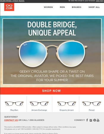 Glasses.com Newsletter