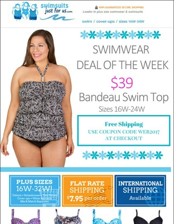 Plus Size Swimwear Deal of the Week + Free Shipping