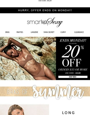 20% off ends soon + Bras of Summer
