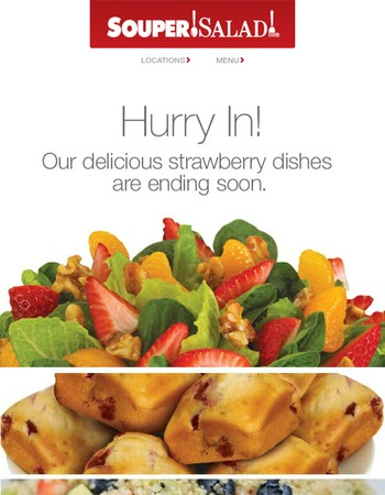 Our Berry, Berry Delicious dishes are ending soon!