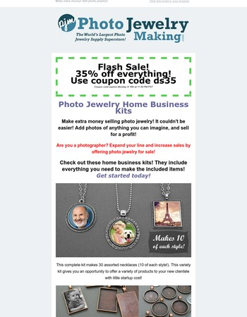 Photo Jewelry Making Newsletter