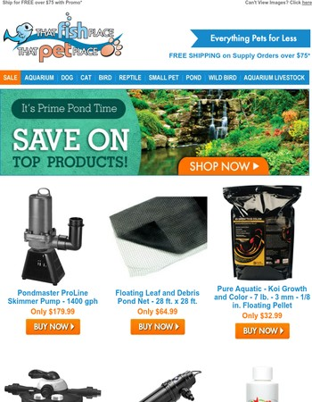 Shop Pond Supplies Chosen for YOU!