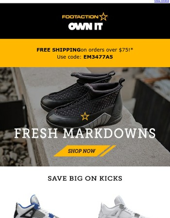 Get in on the latest markdowns.