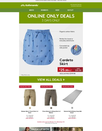 6 new online only deals, Hurry - offers end Wednesday 19th