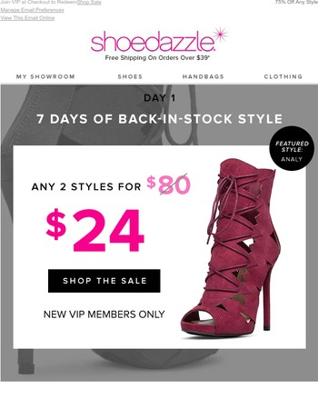Back in Stock Style: 2 for $24!