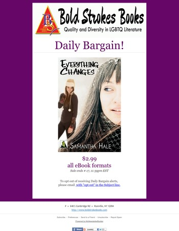 Everything Changes $2.99! BSB Daily Bargain!