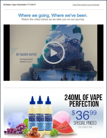 Last Day 20% off Hooch Joose! $36.99 240mls in 5 New Flavors! Limited Edition Flavors at Mt Baker Vapor!