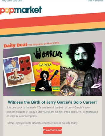 The Beginnings of Jerry Garcia's Solo Career