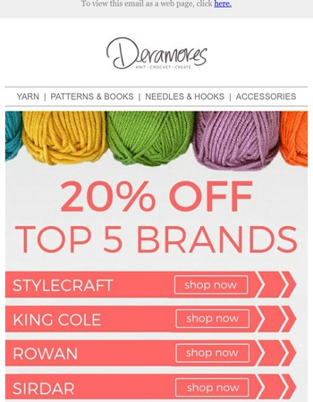 20% Off Top Brands + Latest Arrivals