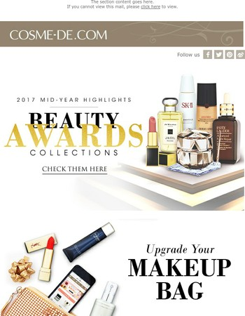 Latest Promotion!  Beauty Awards Collections with all Winning Products!