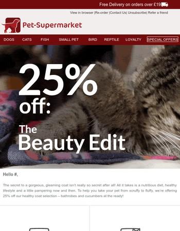Strike a paws: 25% off beauty