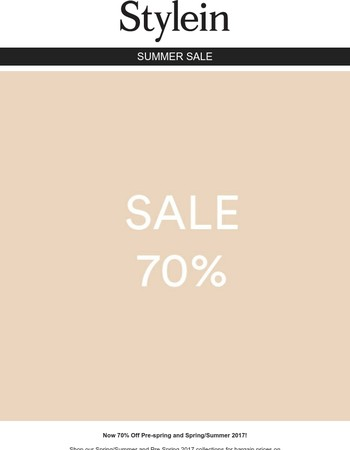 70% SALE IS ON