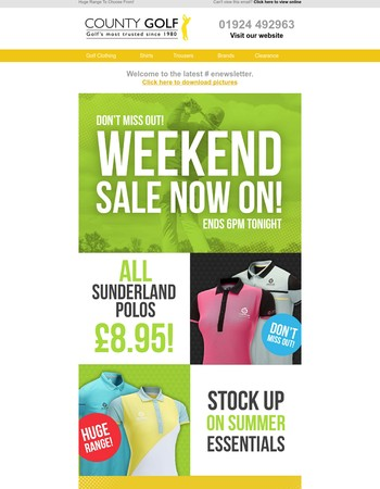 Sunderland Polos Just £8.95! Sale Ends 6PM Tonight!