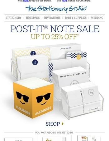 Post-It Note Sale