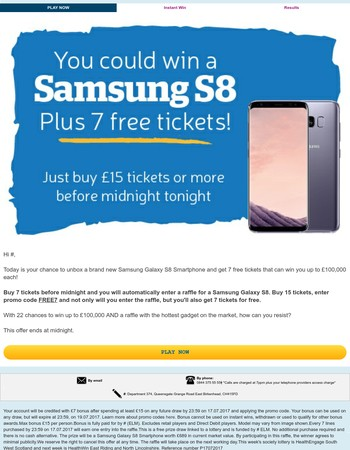 Mary, the latest Samsung S8 Smartphone and 7 free tickets await you inside