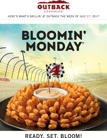 Bloom into great deals this week at Outback
