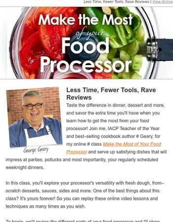 Food processor secrets! Make faster, better meals...