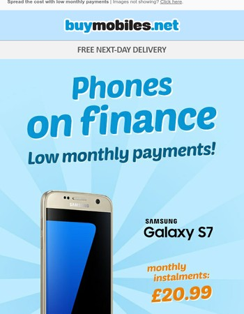 Samsung Galaxy S7 Just £20.99 a Month on Finance