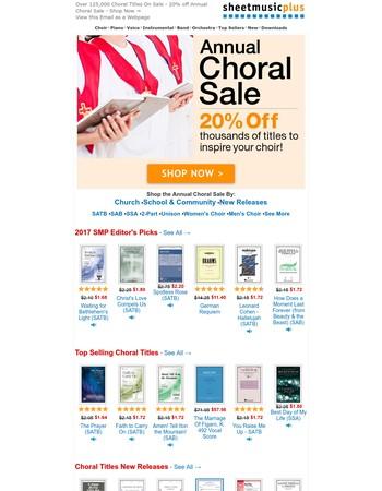 Sheet Music Plus Newsletter