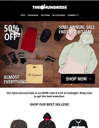BEST OF OUR SEMI-ANNUAL SALE