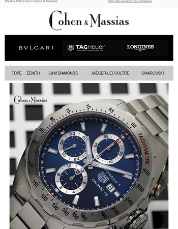 Tag Heuer Formula 1 Chrono Automatic Watch