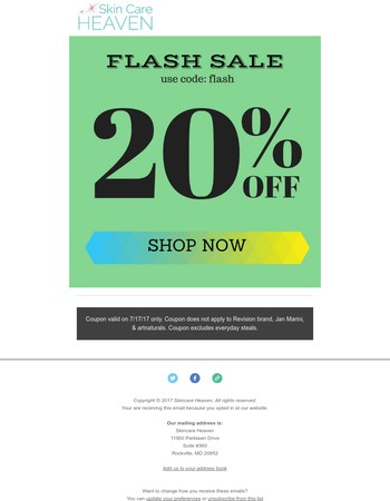 1 Day Only! FLASH Sale