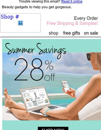Summer Savings - 28% off!