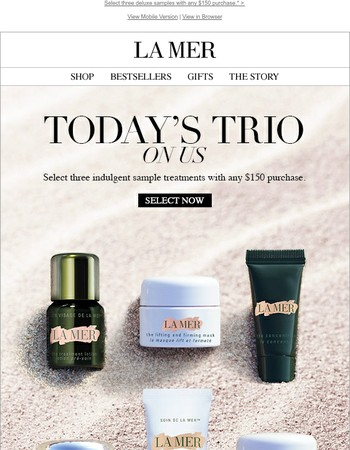 Starts Now – Pick Your Trio of Treatments