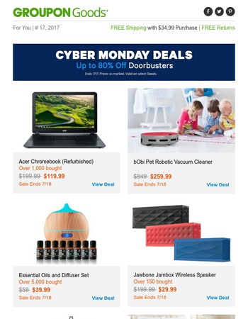Cyber Monday Doorbusters While They Last!