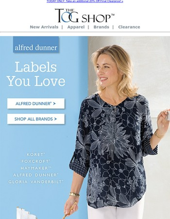 Labels You Love | Take 20% Off Final Clearance