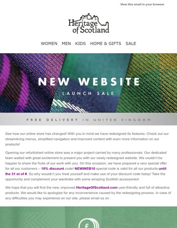 We are very proud to launch our newly refurbished website!