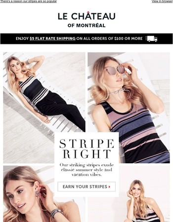 Stripes are all the hype!
