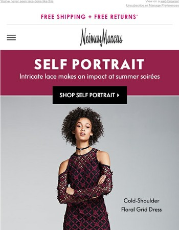 Self Portrait has your party dress