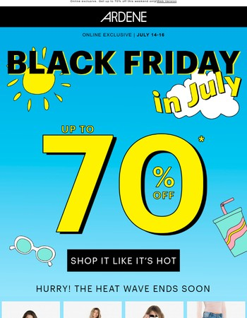 70% Off in the Forecast!
