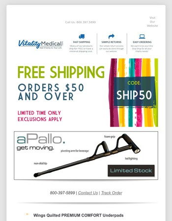 Uh Oh...FREE SHIPPING Ends Tonight!