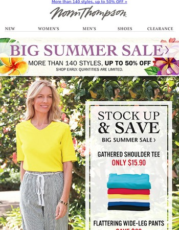 ☀  Summer Essentials — Stock up & Save