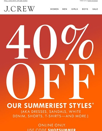Summer styles are now on sale (!)