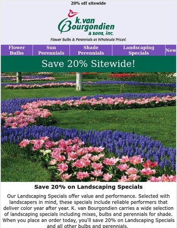 Create gorgeous landscapes for less...
