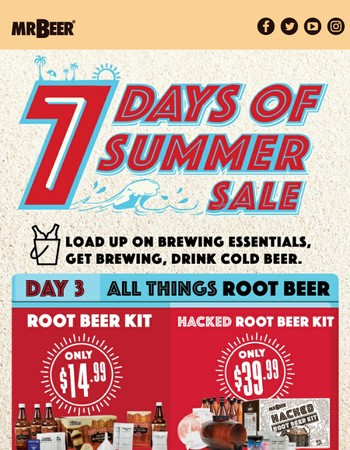 Root Beer Kit for $14.99 & Hacked Root Beer Kit for $39.99!