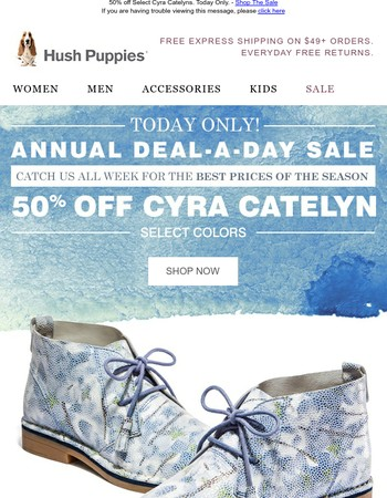 TODAY ONLY: 50% Off Cyra Catelyns