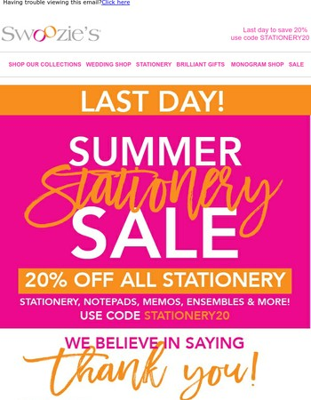 Just for You! Save 20% off ALL catalogs today only!