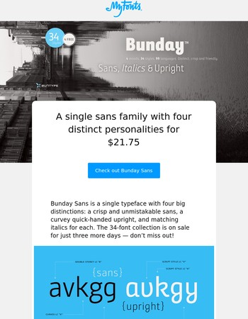 Bunday Sans – A family with four distinct personalities