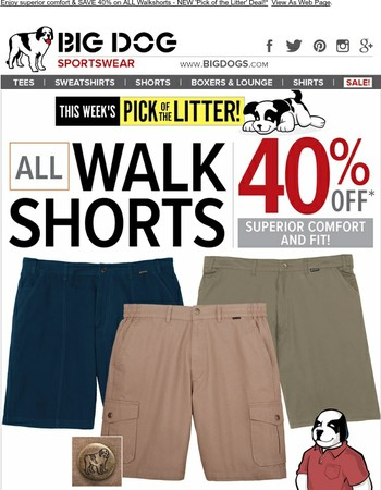 40% OFF ALL Walkshorts! | NEW Pick of the Litter Deal...