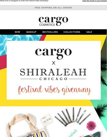 Enter To Win The Cargo x Shiraleah Festival Vibes Giveaway!