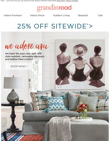 25% Off LAST DAY–bathe in the beauty of grabbing a steal
