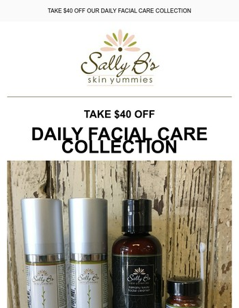 THIS WEEK'S DEAL: Take $40 Off Our Daily Facial Care Collection
